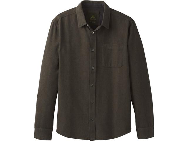 Prana Woodman Camisa de franela Hombre, slate green